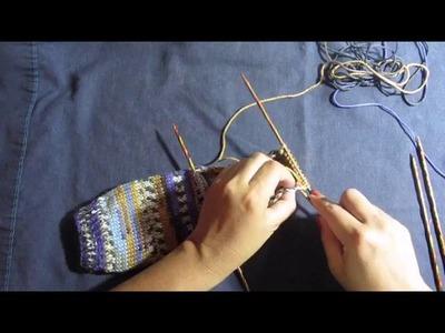 Como tejer calcetines  en 5 agujas (parte 3)