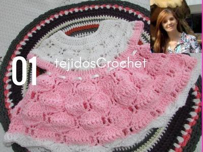Como tejer vestido a crochet.  Parte UNO.