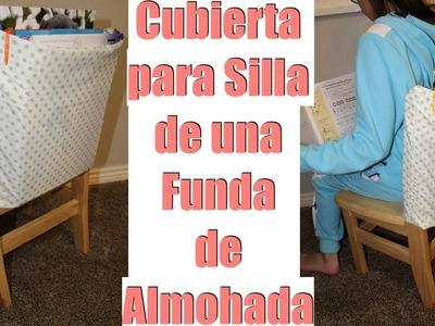 Cubierta Para Silla de una Funda de Almohada.
