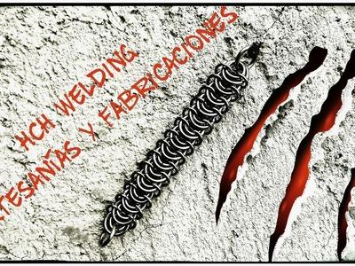 DIY Amazing vertebrate chain weave. cadena en acero inoxidable # 8