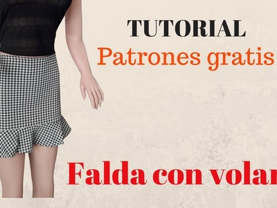 DIY Como hacer una falda con volante corte y confección