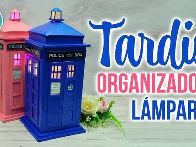 DIY TARDIS de DOCTOR WHO   ORGANIZADOR LAMPARA JOYERO   RECICLAJE CREATIVO   DREEN