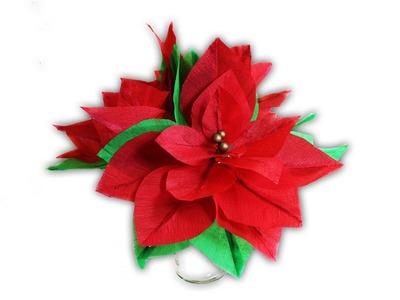 Flores - nochebuena de papel crepe
