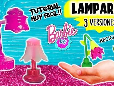 Haz 3 LÁMPARAS para MUÑECAS Barbie muy FÁCIL! MANUALIDADES PARA MUÑECAS
