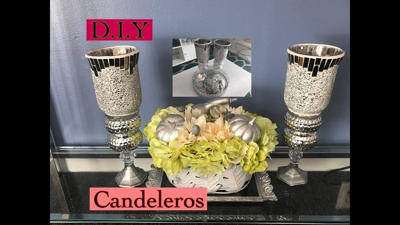 Ideas de cómo hacer unos candelabros.