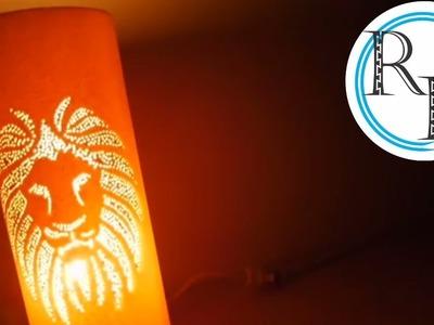 Lámpara en PVC motivo león