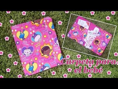 Manualidad   Carpeta para el bebé