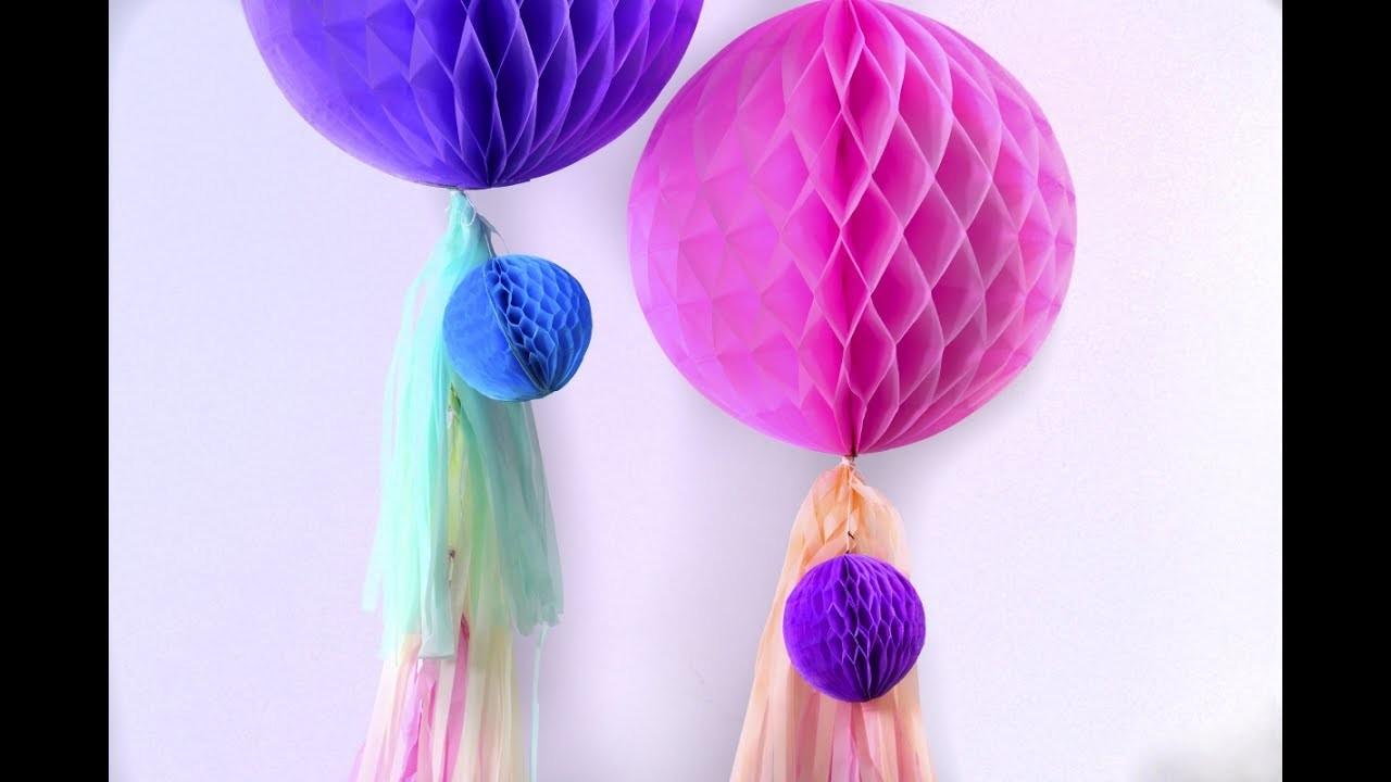 Manualidad | Panales de abeja para decorar un evento o una mesa de dulces