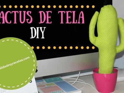 Manualidades DIY: Cactus de tela fácil. Manualidades y Recetas