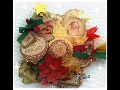 "MINIÁLBUM DESESTRUCTURADO ""CHRISTMAS TIME"". SCRAPBOOKING"