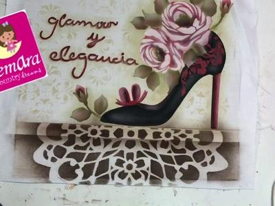 Pintura con Stencil en Tela Elegancia y Glamour