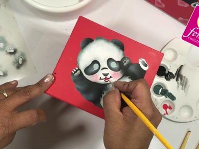 Pintura con Stencil Panda