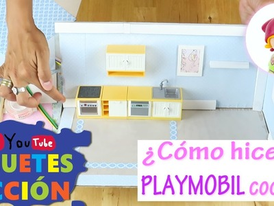 Playmobil en español ☀  ¡Aprende a hacer tu propia cocina! Playmobil DIY ☀ videos de juguetes