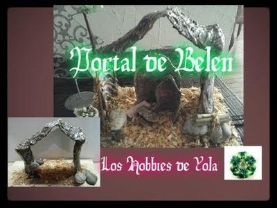 Portal de Belen , pesebre con envase de refresco. Los Hobbies de Yola