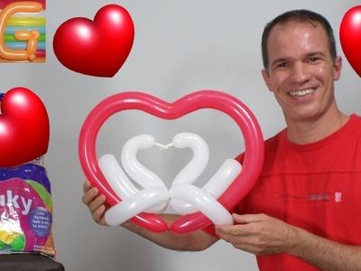 Regalos para san valentin - como hacer corazones con globos - 14 de febrero - globoflexia facil