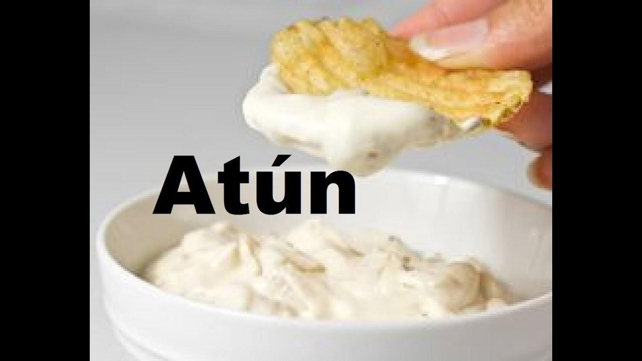 Salsa o Dip de atún y mayonesa para fiestas