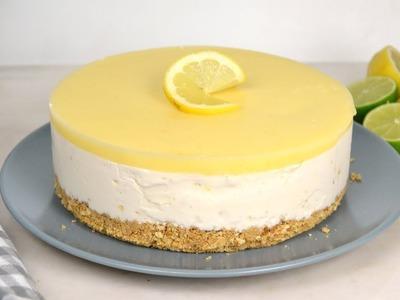 Tarta helada de limón y leche condensada  ¡Super fácil!
