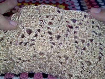 Tutorial Blusa Hojitas 2da Parte Crocheteando con la Comadre