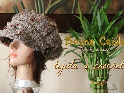 Boina Caida Tejida a Crochet