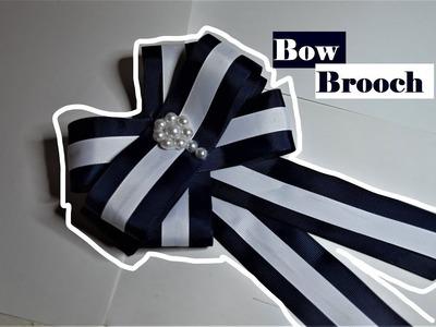 Bow Brooch #1 - Tutorial - DIY - Bowtie - AnabelMonGar