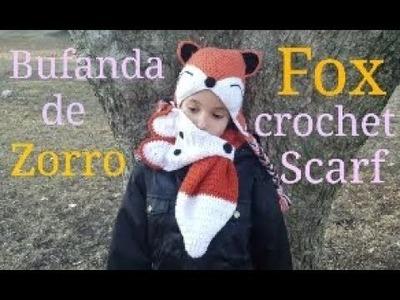 Bufanda de Zorro a crochet. Fox crochet scarf