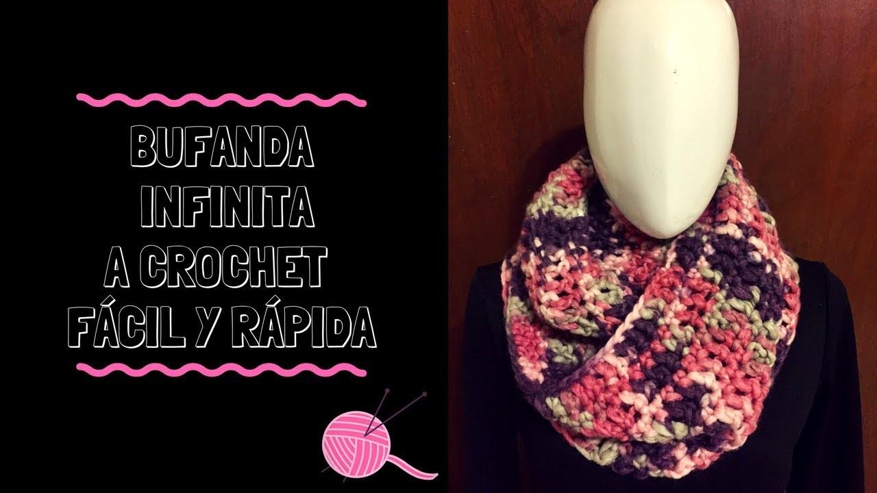 nuevo concepto 1f33a 4321a Bufanda infinita fácil y rápida a crochet!