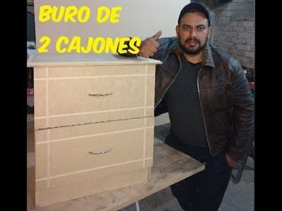 BURO DE 2 CAJONES
