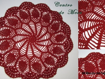 Carpeta o centro de mesa tejida a crochet - Mi Rincón del Tejido