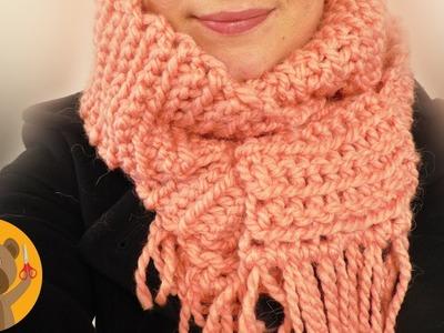 Chal tejido en cadenetas | Hermoso patrón de tejido rápido y fácil hazlo tu mismo