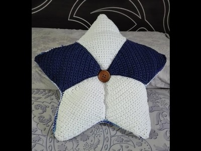 COJIN CON FORMA DE ESTRELLA ???? a ganchillo.crochet