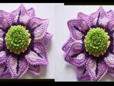 Como Hacer Flor Primaveral  Tejidos en Crochet