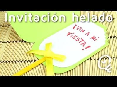 Cómo hacer invitaciones de cumpleaños en forma de helado | facilisimo.com