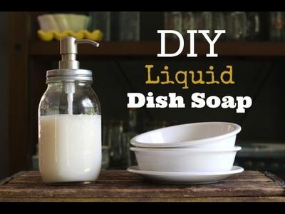 Como hacer jabón liquido para platos FACIL!