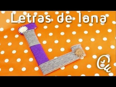 Cómo hacer letras con cartón y lana | facilisimo.com