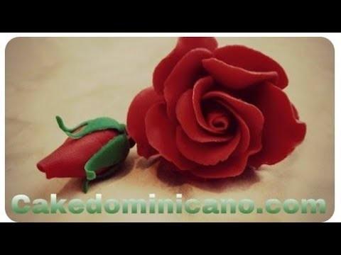 Como hacer Rosas en Pasta de Goma