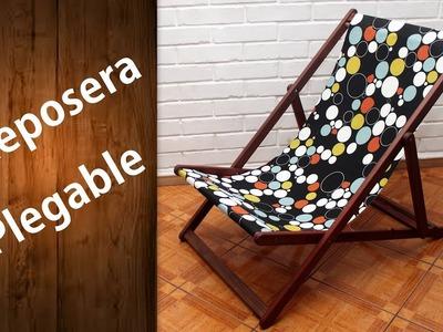 Cómo hacer una reposera o perezoso Fácil | Wooden deck chair