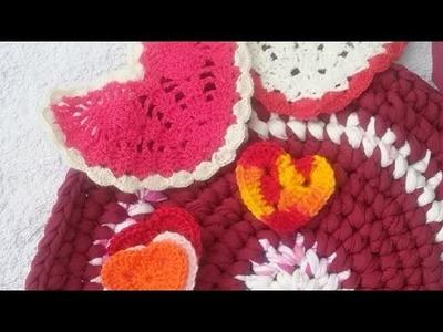Corazones y adelantos de labores en Crochet