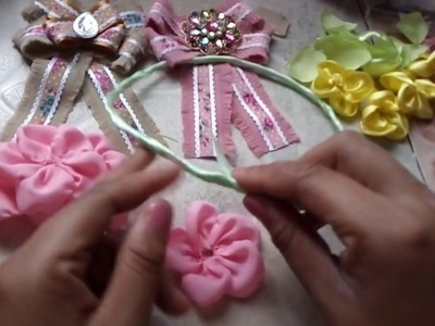 Corona de flores para niña. como hacer una corona de flores