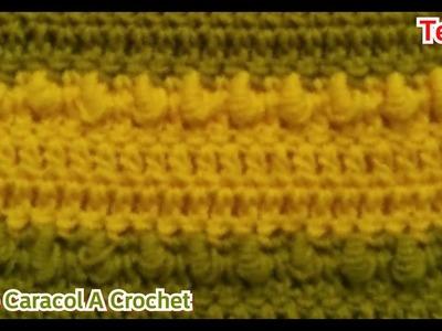 Crochet: Como Tejer El Punto Caracol A Crochet - Manualidades La Manita Felíz