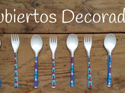 CUBIERTOS de plástico para fiestas decorados | Ideas para fiestas caseras