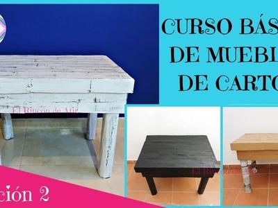 CURSO BÁSICO DE MUEBLES DE CARTÓN - LECCIÓN 2 ESTRUCTURA DE LA MESA
