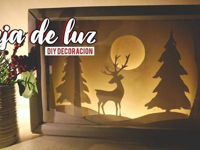 DIY COMO HACER UNA CAJA DE LUZ EN 3D CON PEPEL CORTADO. WenDIY