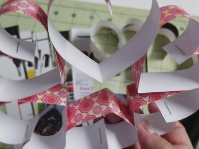 DIY: Paper Heart Wreath Valentine's Day.❤