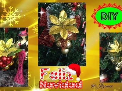 Diy Racimo de Esferas Navideñas. Ornamento para árbol de Navidad.By ITzomex