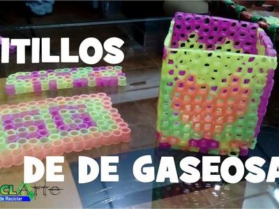 DIY TARJETERO EN PITILLOS DE GASEOSA.REFRESH CARD IN Pitillos