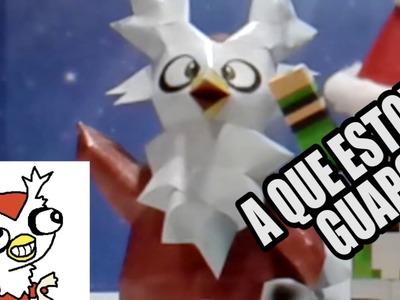 Especial Navidad como hacer un Delibird. Hq - Papercraft