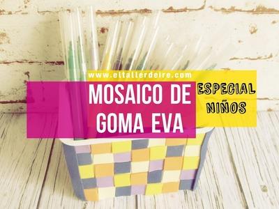 Especial niños: decorar una caja con un mosaico de goma eva