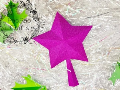 Estrella puntero de Árbol | Estrella 3D | Estrella de papel | Star Tree Topper | 3D paper star