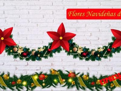 Flor de tela Navideña - Especial Navidad 4