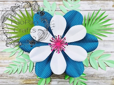 FLOR GIGANTE DE PAPEL | MOLDES GRATIS | HOW TO MAKE GIANT PAPER FLOWERS | FREE TEMPLATES